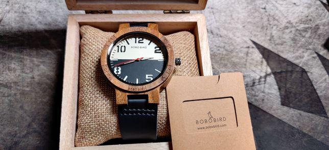 Bobo bird часы из натурального дерева