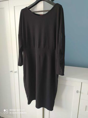 Piękna elegancka czarna sukienka 52/54