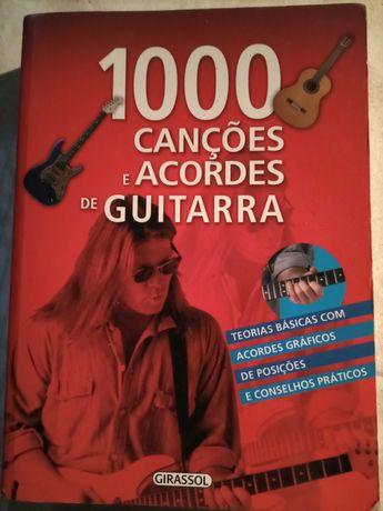 Livro 1000 canções e acordes de guitarra,