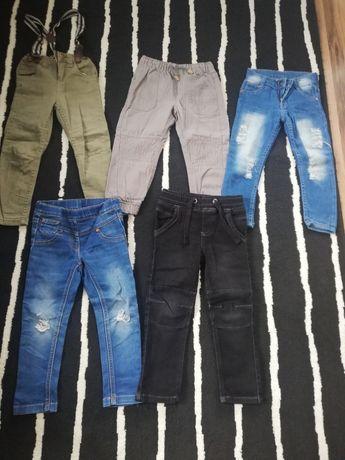 Zestaw spodni 98-104 slim rurki