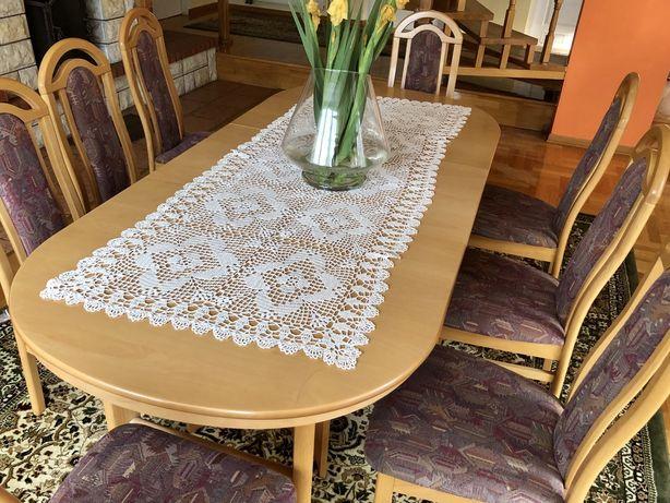 Rozkladany stół drewniany + 8 krzeseł