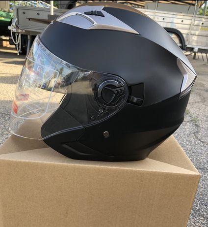 О крытый мотошлем с очками, цена 1200 грн