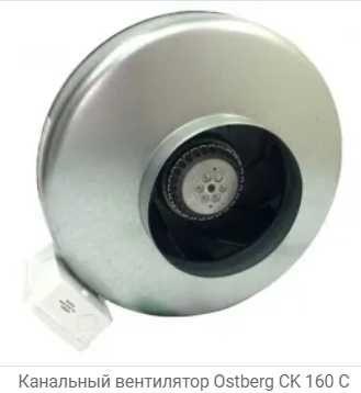 Круглый канальный вентилятор Ostberg CK 160 В, б\у, торг