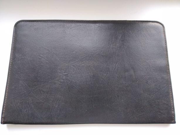 Папка кожаная чёрная для документов
