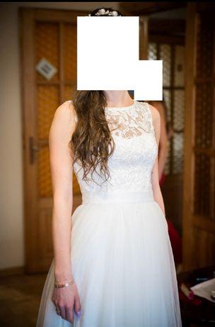 Suknia ślubna rozm. 36, szyta na zamówienie, STAN IDEALNY!