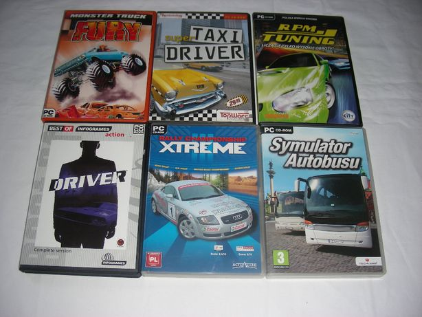 Gry PC Driver, Rally Championship, Monster Truck, RPM i inne