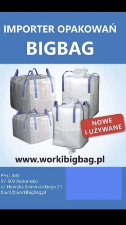 Worki big bag bagi 96/96/115 bigbag Wysylka od 10 sztuk