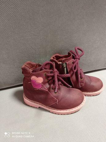 Зимові чоботи для дівчинки з натуральної шкіри