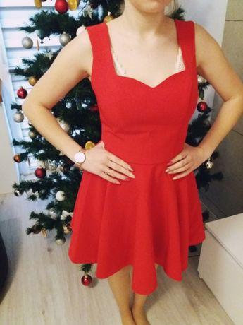 Czerwona sukienka XS 34
