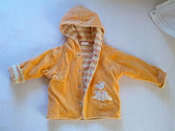 Велюровый жакетик-курточка для мальчика или девочки на рост 56см