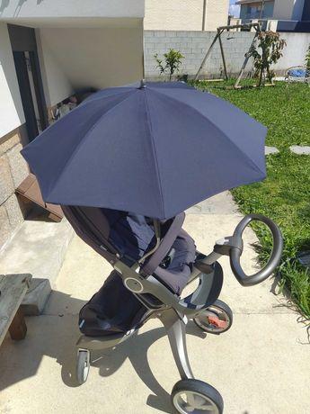vendo Stokke carrinho passeio + acessórios (guarda-sol/capa chuva/etc)