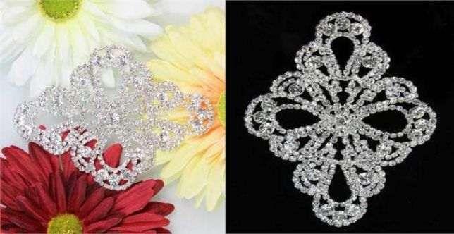 Aplique para vestido noiva ou acessorio de cabelo com pedras strass