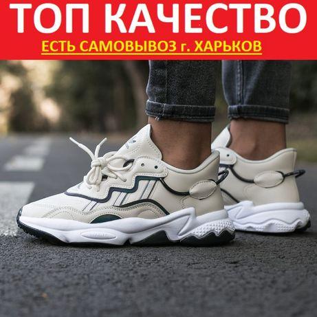 "Кроссовки Adidas Ozvego ""White Milk/Black"" Женские/Мужские"