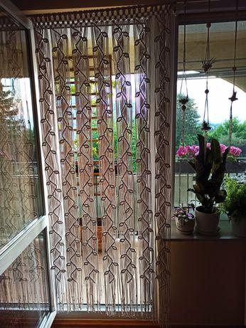 Zasłona na drzwi, balkon makrama ze sznurka kotara ścianka