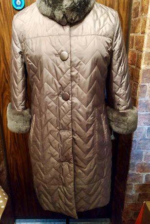 Стёганое демисезонное пальто р50