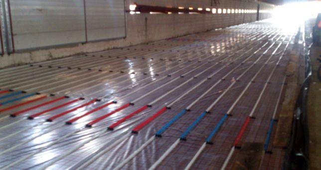 Ogrzewanie podłogowe posadzki przemysłowe wielopowierzchniowe