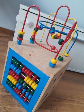 Kostka edukacyjna zabawka sensoryczna 12m+