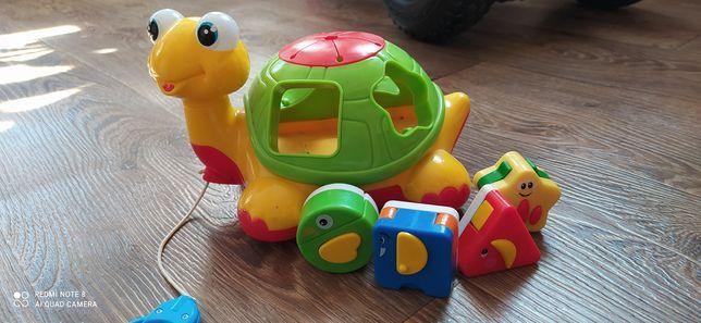 Черепаха каталка fisher price