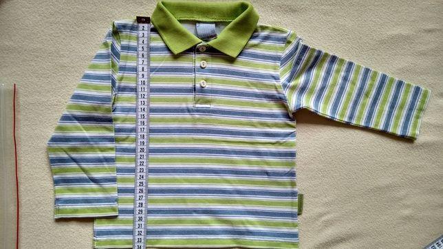 Koszulka polo z długim rękawem dla chłopca, rozm. 92