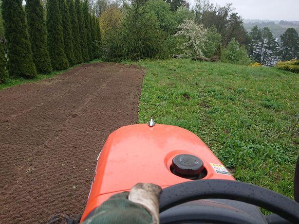 Trawnik w jeden dzień mini traktor glebogryzarka separacyjna mulczer