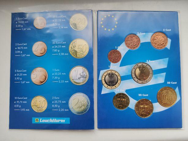 Niemcy klaser z monetami od 1 centa do 2 euro - 8szt.