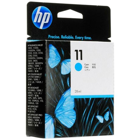 Картридж HP 11 DesignJet 2200/2250/cp1700 28 мл Cyan