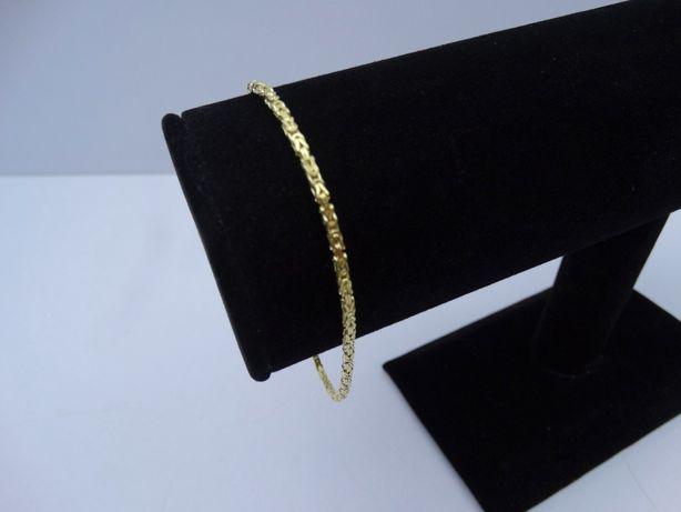 Złota bransoletka splot królewski P585 4,99g 20,5cm LOM95