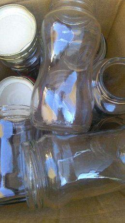 Frascos de vidro com tampas