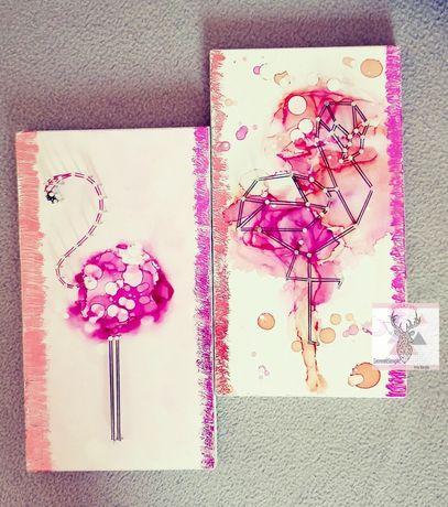FLAMINGI String Art / pokoj dziewczynki