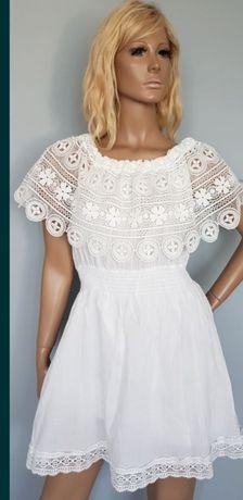 Przepiękna Biała Można nosić jako Hiszpanke