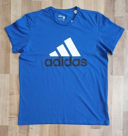 Nowa męska koszulka t-shirt Adidas rozmiar L kolor niebieski