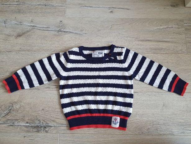 NAME IT sweter dziecięcy w paski 86 cm