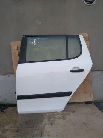 Drzwi lewe tylne lewy tył Skoda Fabia II 2 08r HB białe