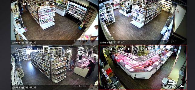 Monitoring 4 kamery Full Hd +Montaż 2200