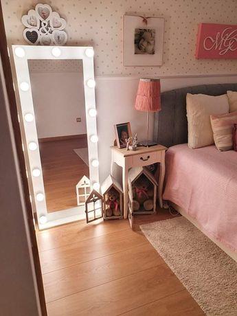 Espelho com luzes quarto menina