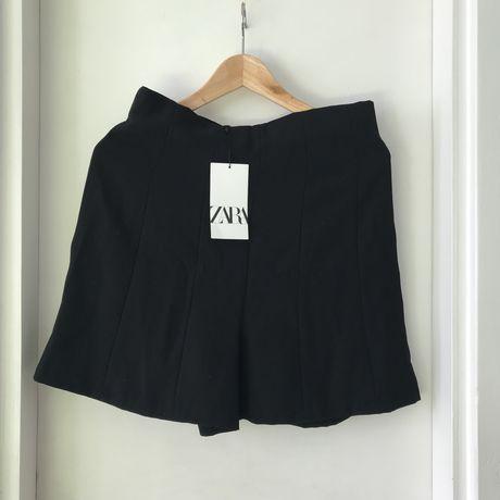 Nowe krótkie spodenki Zara M/L czarne szorty jesień zima