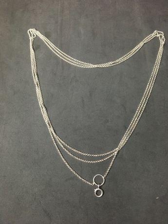 Cordao antigo em prata