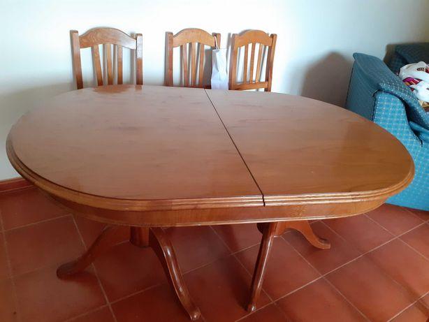 Mesa de jantar e 6 cadeiraa