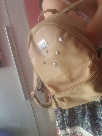 Plecak damski beżowy