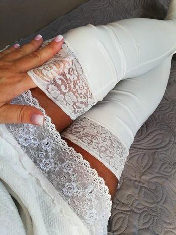 pończochy białe latex