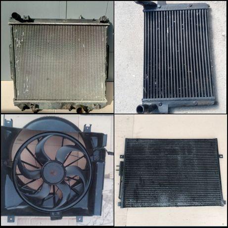 Jeep wj 3,1  2,7 Grand Cherokee радиаторы охлаждения розборка