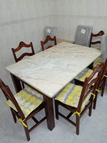 Mesa tampo mármore como novo