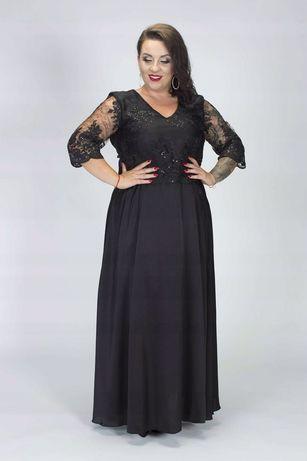 Sukienka dluga czarna 46