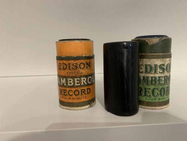 cylinder edisona wałek fonograficzny 4 minutowy fonograf