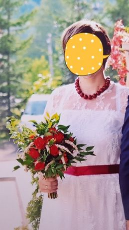 Suknia sukienka ślubna koronkowa sukienka biała xl 42