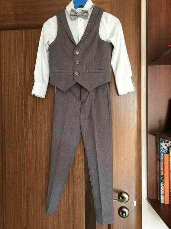 Костюм для мальчика, брюки, рубашка, жилет, р.116