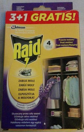 raid zawieszka na mole odzieżowe 4 szt