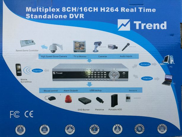 Cyfrowy tejestrator Trend Multiplex 8CH/16CH + kamery