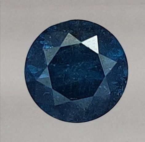 Diamante azul intenso 0.57ct  redondo brilhante