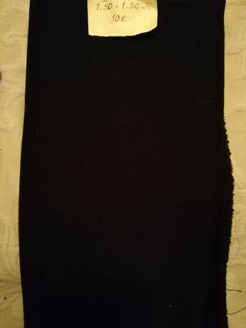 Corte tecido cor preta